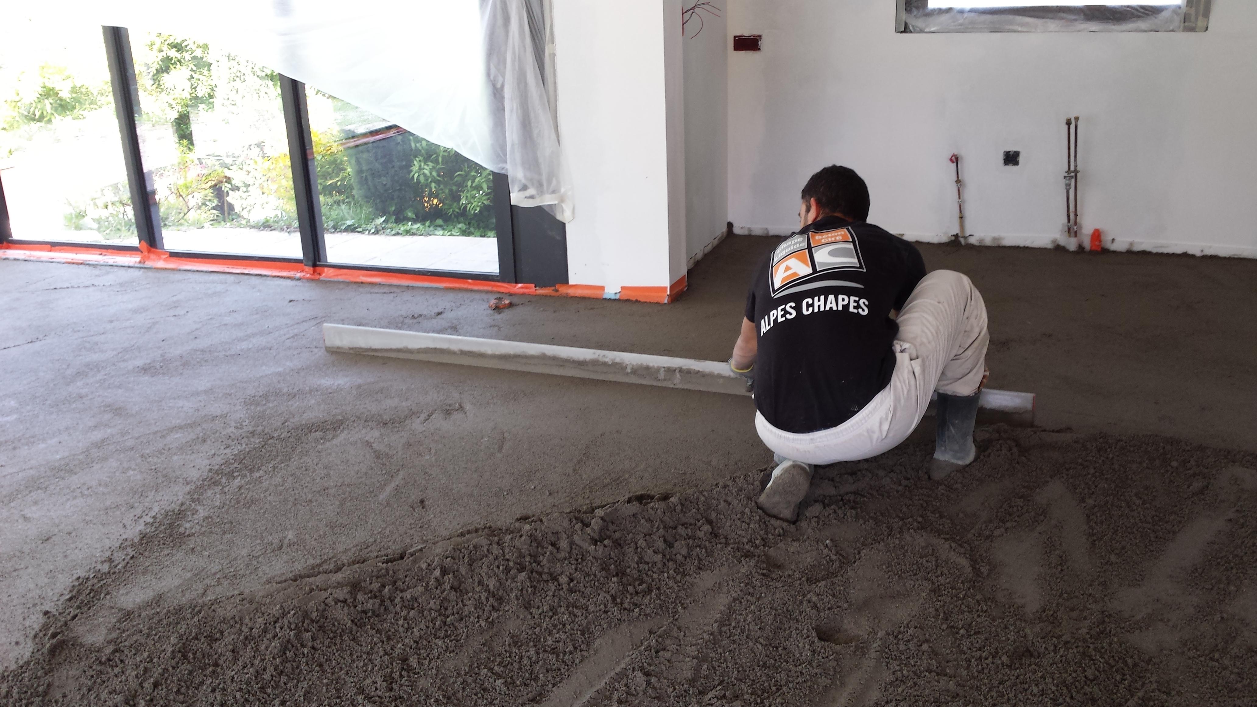 melange ciment sable pour chape r alisation d 39 une chape avec une pompe par william amador. Black Bedroom Furniture Sets. Home Design Ideas